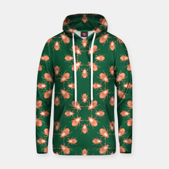 Thumbnail image of Copper Beetles on Green Background Cotton hoodie, Live Heroes