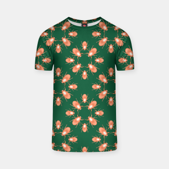 Thumbnail image of Copper Beetles on Green Background T-shirt, Live Heroes
