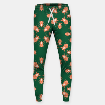 Thumbnail image of Copper Beetles on Green Background Cotton sweatpants, Live Heroes