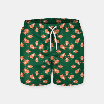 Thumbnail image of Copper Beetles on Green Background Swim Shorts, Live Heroes