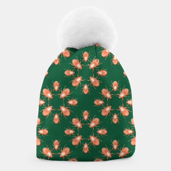Thumbnail image of Copper Beetles on Green Background Beanie, Live Heroes
