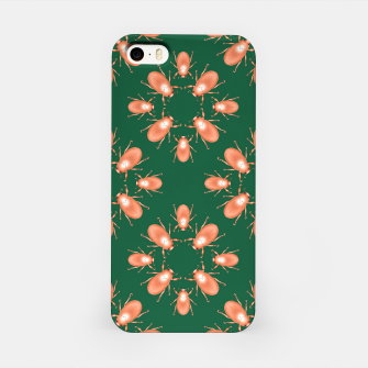 Thumbnail image of Copper Beetles on Green Background iPhone Case, Live Heroes