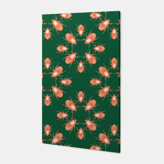 Thumbnail image of Copper Beetles on Green Background Canvas, Live Heroes