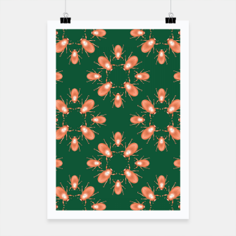 Thumbnail image of Copper Beetles on Green Background Poster, Live Heroes