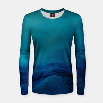 Thumbnail image of Storm Water Painting |  Woman cotton sweater, Live Heroes