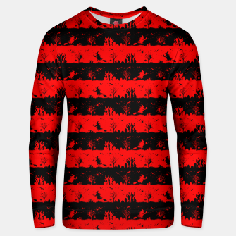 Red Devil and Black Halloween Nightmare Stripes  Cotton sweater thumbnail image