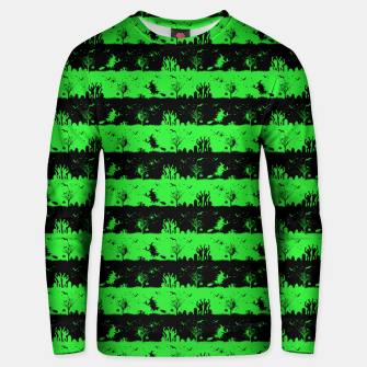 Monster Green and Black Halloween Nightmare Stripes  Cotton sweater thumbnail image