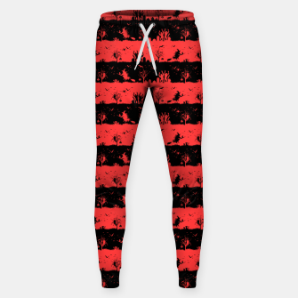 Miniatur Donated Kidney Pink and Black Halloween Nightmare Stripes  Cotton sweatpants, Live Heroes