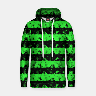 Monster Green and Black Halloween Nightmare Stripes  Cotton hoodie thumbnail image