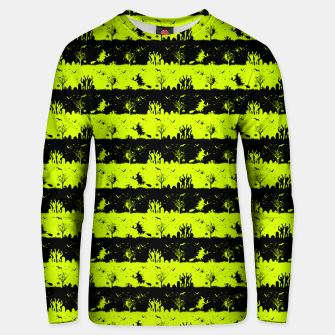 Thumbnail image of Slime Green and Black Halloween Nightmare Stripes  Cotton sweater, Live Heroes