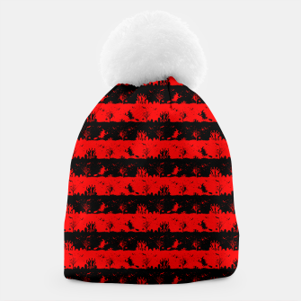 Red Devil and Black Halloween Nightmare Stripes  Beanie thumbnail image