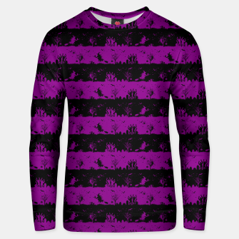Thumbnail image of Zombie Purple and Black Halloween Nightmare Stripes  Cotton sweater, Live Heroes