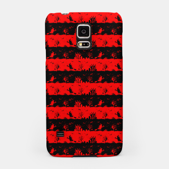 Red Devil and Black Halloween Nightmare Stripes  Samsung Case thumbnail image