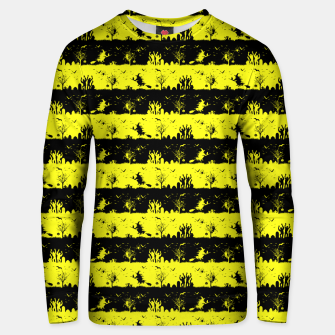 Cats Eye Yellow and Black Halloween Nightmare Stripes  Cotton sweater thumbnail image