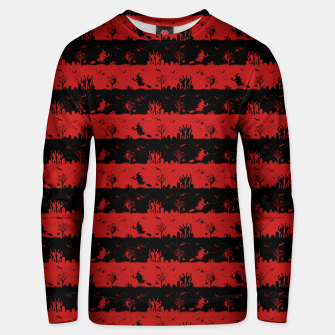 Blood Red and Black Halloween Nightmare Stripes  Cotton sweater thumbnail image