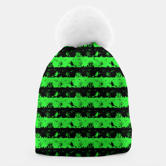 Monster Green and Black Halloween Nightmare Stripes  Beanie thumbnail image