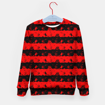 Red Devil and Black Halloween Nightmare Stripes  Kid's sweater thumbnail image