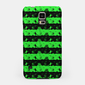 Monster Green and Black Halloween Nightmare Stripes  Samsung Case thumbnail image