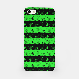 Monster Green and Black Halloween Nightmare Stripes  iPhone Case thumbnail image