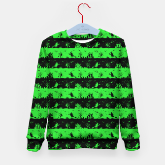 Monster Green and Black Halloween Nightmare Stripes  Kid's sweater thumbnail image