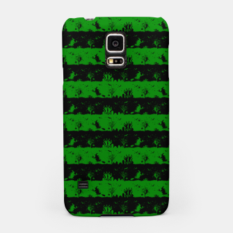Alien Green and Black Halloween Nightmare Stripes  Samsung Case thumbnail image