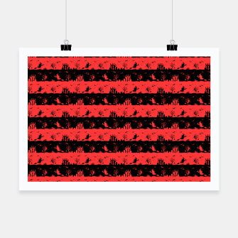 Miniatur Donated Kidney Pink and Black Halloween Nightmare Stripes  Poster, Live Heroes