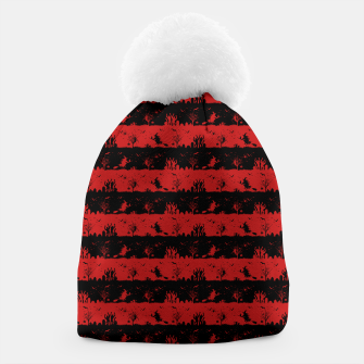 Blood Red and Black Halloween Nightmare Stripes  Beanie thumbnail image
