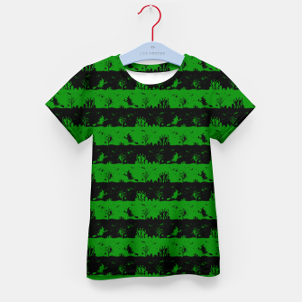 Alien Green and Black Halloween Nightmare Stripes  Kid's t-shirt thumbnail image