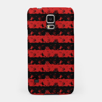 Blood Red and Black Halloween Nightmare Stripes  Samsung Case thumbnail image