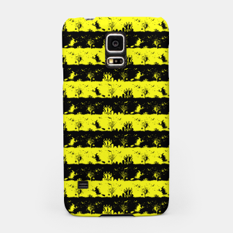 Cats Eye Yellow and Black Halloween Nightmare Stripes  Samsung Case thumbnail image
