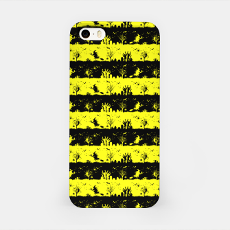 Cats Eye Yellow and Black Halloween Nightmare Stripes  iPhone Case thumbnail image