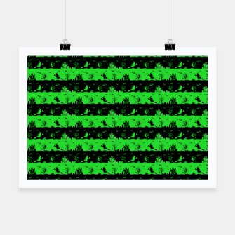 Monster Green and Black Halloween Nightmare Stripes  Poster thumbnail image