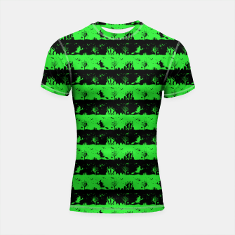 Monster Green and Black Halloween Nightmare Stripes  Shortsleeve rashguard thumbnail image