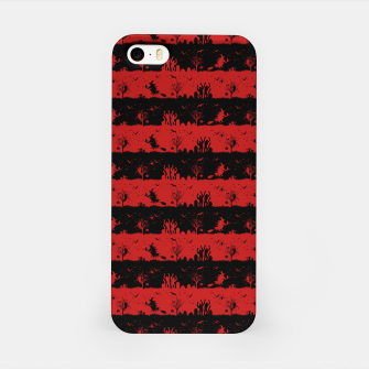 Blood Red and Black Halloween Nightmare Stripes  iPhone Case thumbnail image