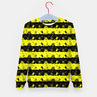 Cats Eye Yellow and Black Halloween Nightmare Stripes  Kid's sweater thumbnail image