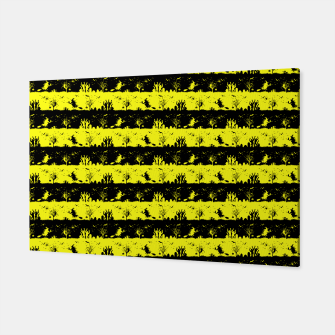 Thumbnail image of Cats Eye Yellow and Black Halloween Nightmare Stripes  Canvas, Live Heroes