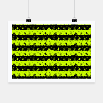 Thumbnail image of Slime Green and Black Halloween Nightmare Stripes  Poster, Live Heroes