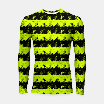 Thumbnail image of Slime Green and Black Halloween Nightmare Stripes  Longsleeve rashguard , Live Heroes