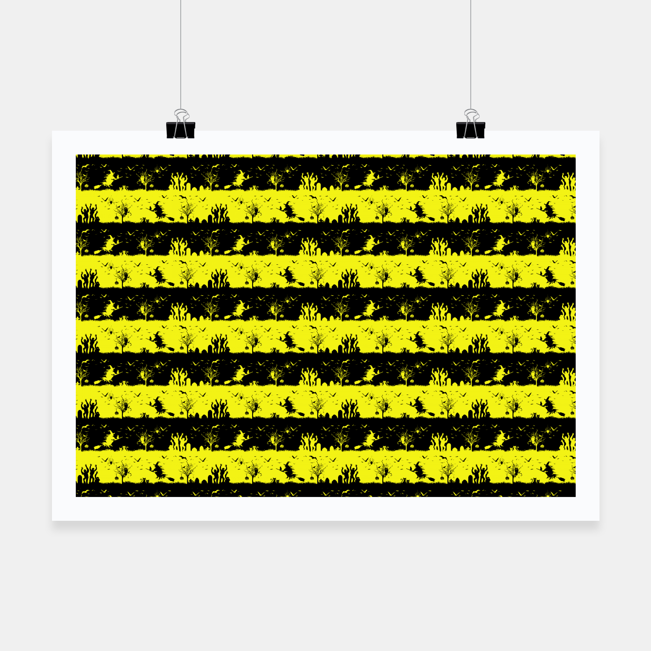 Image of Cats Eye Yellow and Black Halloween Nightmare Stripes  Poster - Live Heroes