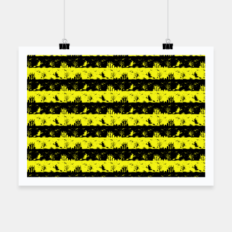 Thumbnail image of Cats Eye Yellow and Black Halloween Nightmare Stripes  Poster, Live Heroes