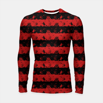 Blood Red and Black Halloween Nightmare Stripes  Longsleeve rashguard  thumbnail image
