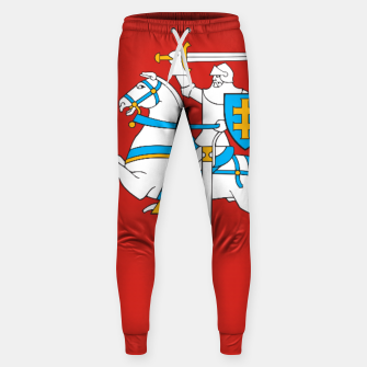 Thumbnail image of State flag of Lithuania Knight On Red Cotton sweatpants, Live Heroes