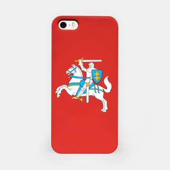 Thumbnail image of State flag of Lithuania Knight On Red iPhone Case, Live Heroes