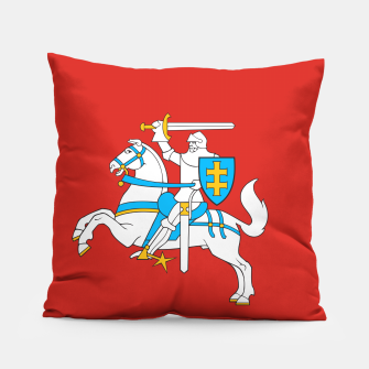 Thumbnail image of State flag of Lithuania Knight On Red Pillow, Live Heroes