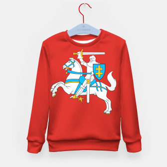 Thumbnail image of State flag of Lithuania Knight On Red Kid's sweater, Live Heroes