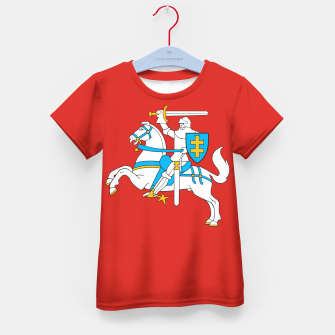 Thumbnail image of State flag of Lithuania Knight On Red Kid's t-shirt, Live Heroes