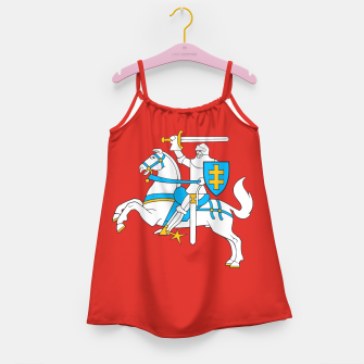 Thumbnail image of State flag of Lithuania Knight On Red Girl's dress, Live Heroes