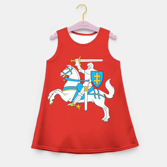 Thumbnail image of State flag of Lithuania Knight On Red Girl's summer dress, Live Heroes