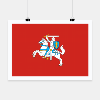 Thumbnail image of State flag of Lithuania Knight On Red Poster, Live Heroes