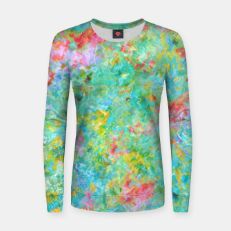 Thumbnail image of Tropical Waters Abstract |  Woman cotton sweater, Live Heroes